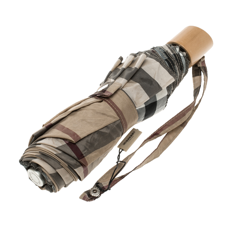 91341fb88ce8 ... Burberry Beige House Check Trafalgar Packable Umbrella. nextprev.  prevnext