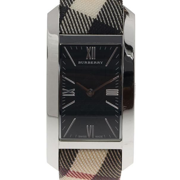 2fd3689cc إشتري ساعة يد نسائية بربري هريتدج ويمين فولاذ مقاوم للصدأ سوداء 25 مم 7901  بأفضل الاسعار | ذا لاكشري كلوزيت