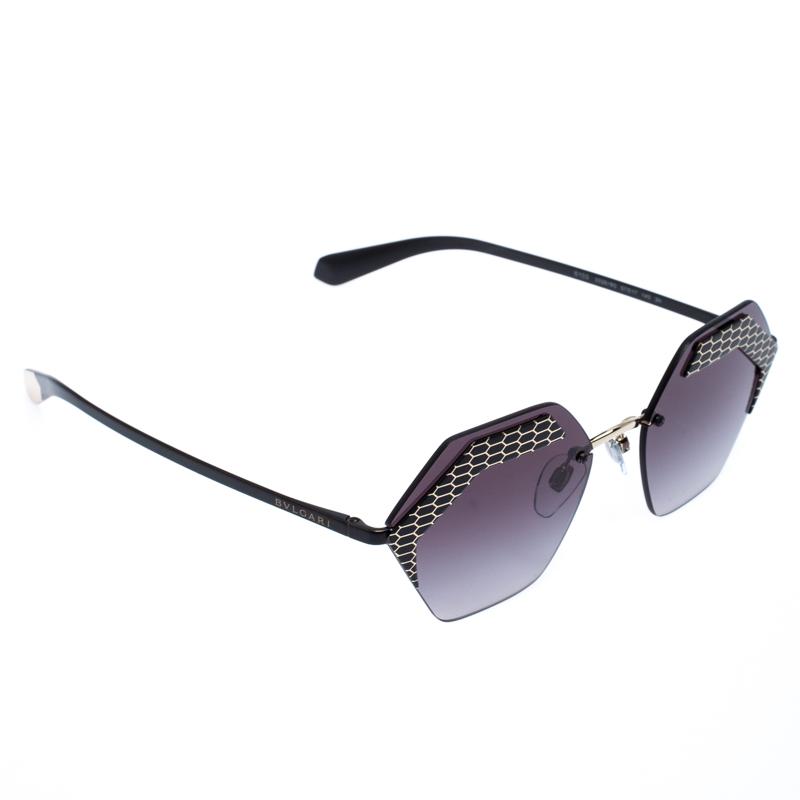 Bvlgari Black/Grey Gradient 6103 Serpenteyes Geometric Sunglasses