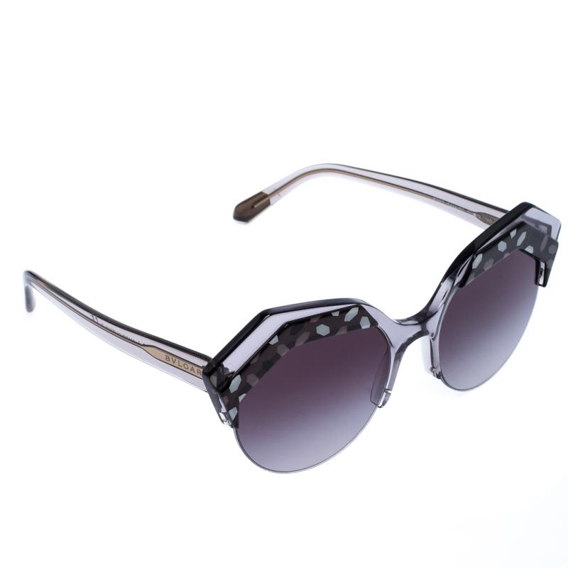 Bvlgari Black/Grey Gradient 8203 Serpenteyes Round Sunglasses