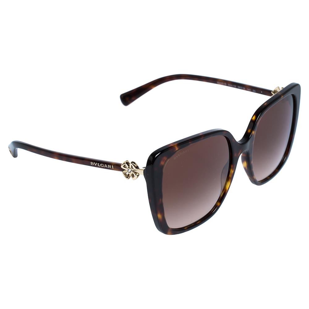 Bvlgari Dark Brown Tortoise Gradient 8225-B Sunglasses