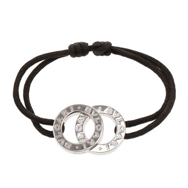 Bvlgari Sterling Silver Black Bracelet 22CM