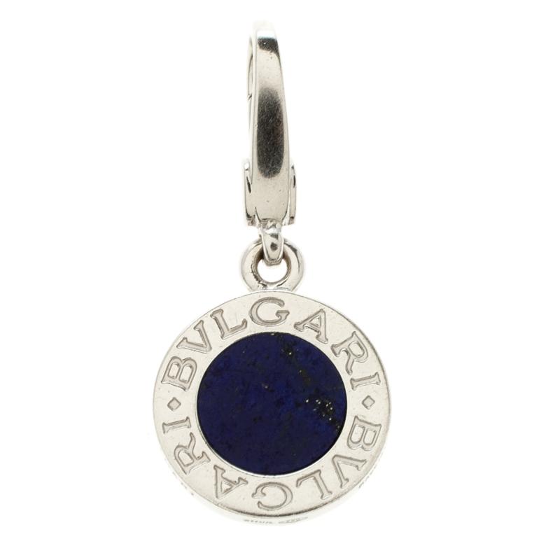 Bvlgari Lapis Lazuli 18K White Gold Pendant Charm