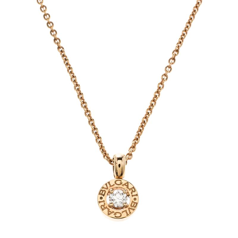 Купить со скидкой Bvlgari Bvlgari Diamond Yellow Gold Pendant Necklace
