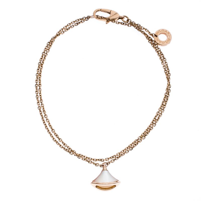 Bvlgari Divas' Dream Mother of Pearl 18K Rose Gold Chain Bracelet