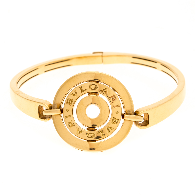 Bvlgari Cerchi Astrale 18K Yellow Gold Shield Bangle Bracelet