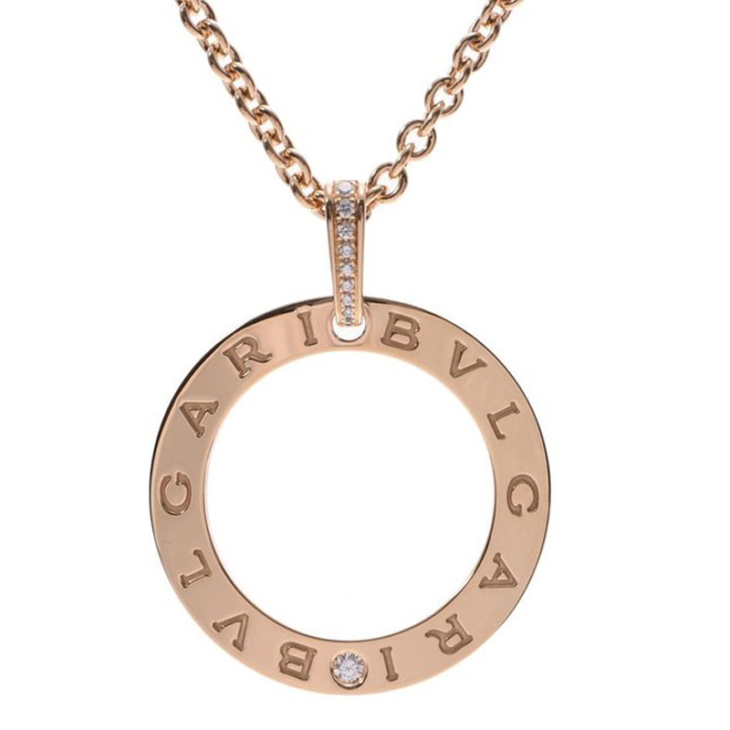 Bvlgari Diamonds 18K Yellow Gold Pendant Necklace