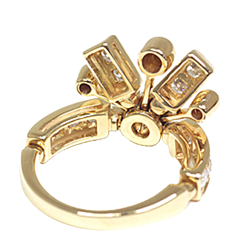 Bvlgari Fireworks Diamonds 18K Yellow Gold Ring Size