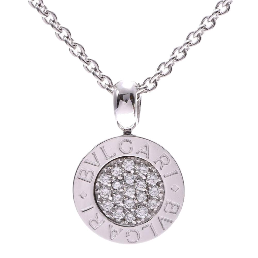 Bvlgari Bvlgari Diamond 18K White Gold Pendant Necklace