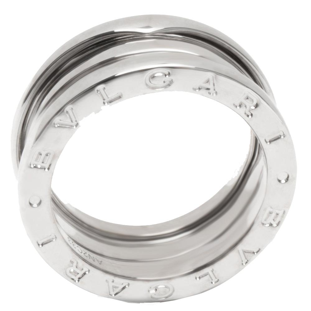 Bvlgari 18K White Gold Three Band B.zero1 Ring Size 52