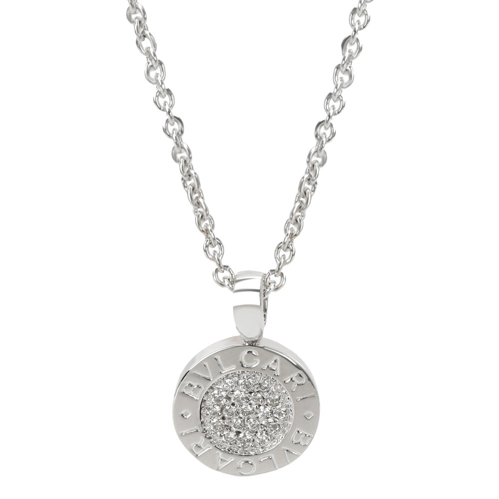 Bvlgari Bvlgari 18K White Gold Diamond Pendant Necklace