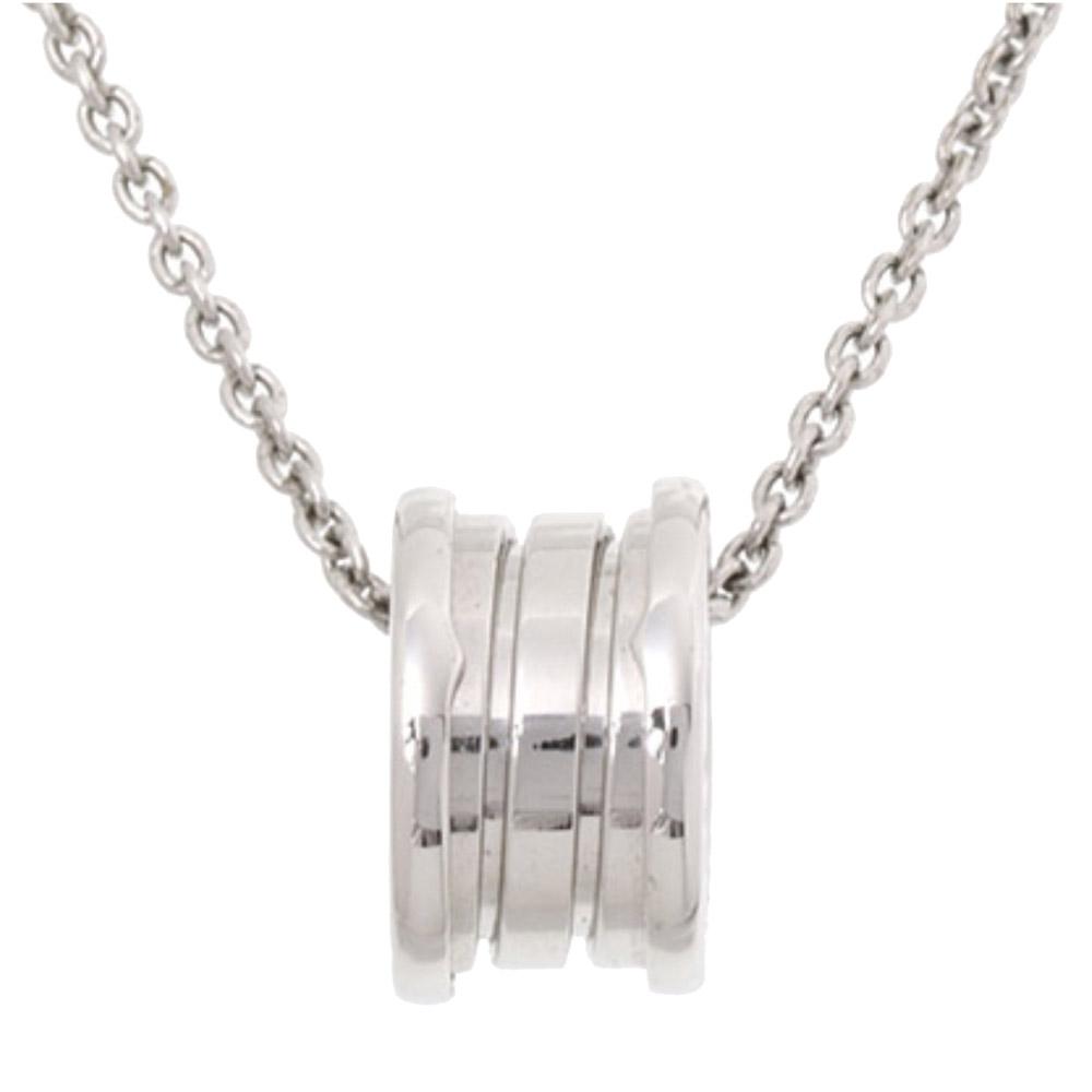 Bvlgari B.Zero1 18K White Gold Pendant Necklace