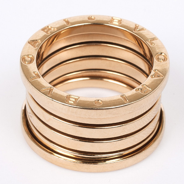 Bvlgari B.Zero1 18K Gold Band Ring Size 53