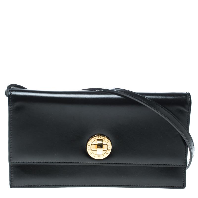 c93621575b7 Buy Bvlgari Black Leather Clutch Bag 150836 at best price   TLC