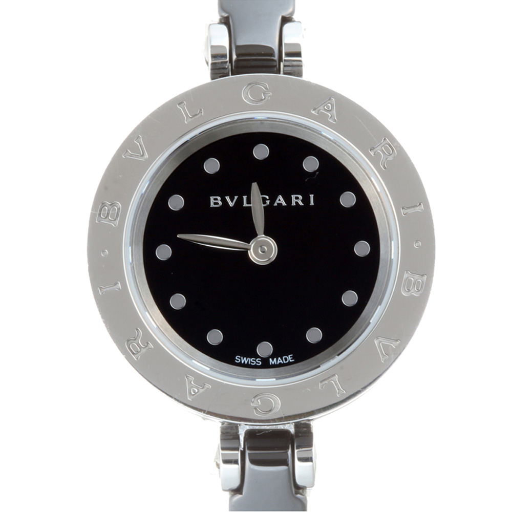 Bvlgari Black Ceramic Stainless Steel B.zero1 BZ23SC Women's Wristwatch 23MM