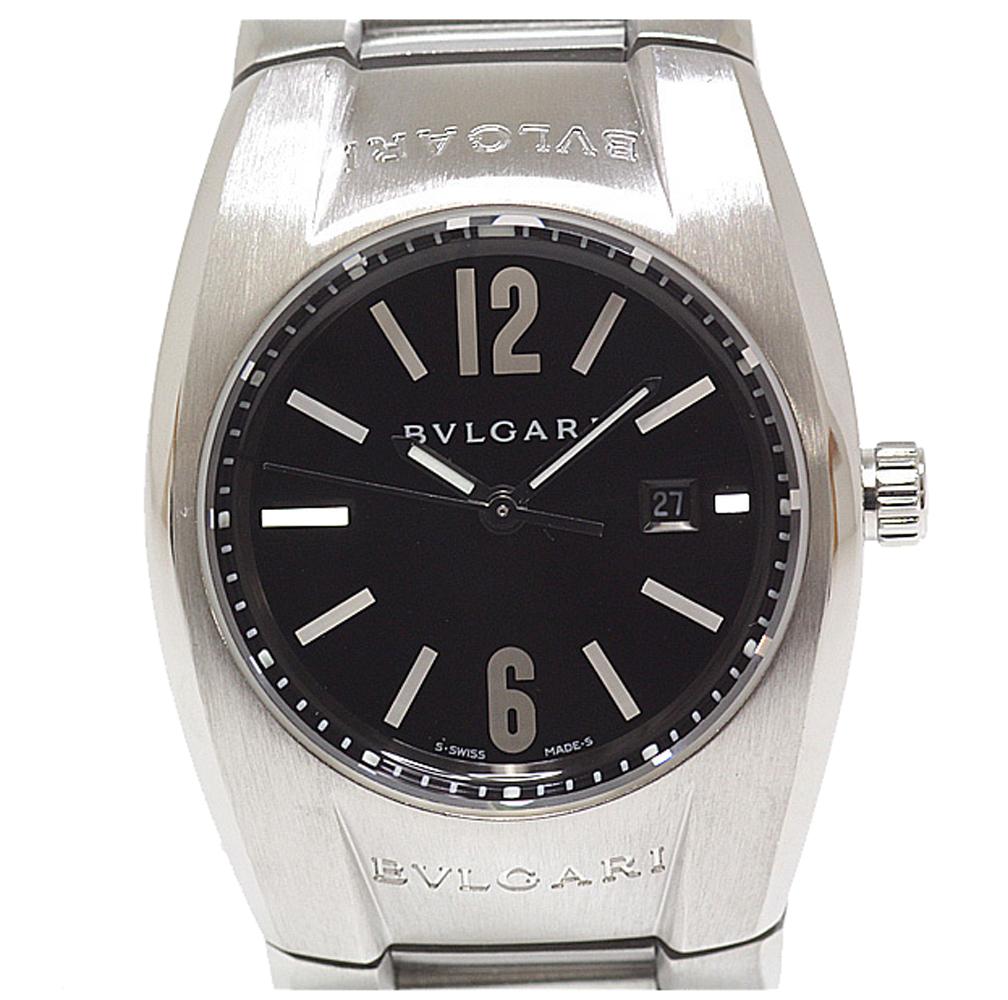 Bvlgari Black Stainless Steel Elgon EG30S Women's Wristwatch 30MM