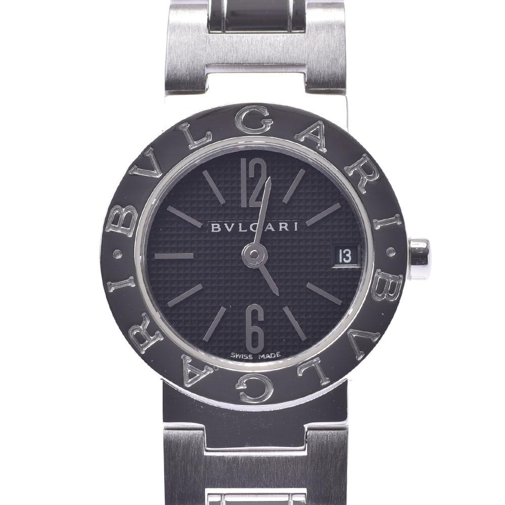 Pre-owned Bvlgari Bb23ss Quartz Women's Wristwatch 23 Mm In Black