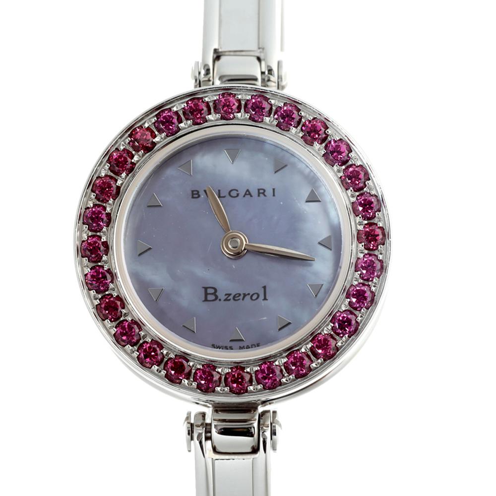 Bvlgari Blue MOP Stainless Steel B.Zero1 BZ22S Women's Wristwatch 22 MM