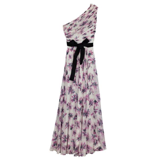 a36edbd577e67 ... Carolina Herrera One Shoulder Floral Chiffon Gown L. nextprev. prevnext