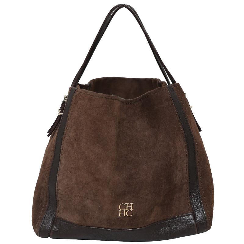 a5c113f2e6df Buy Carolina Herrera Two Tone Leather/Suede Shoulder Bag 139287 at ...