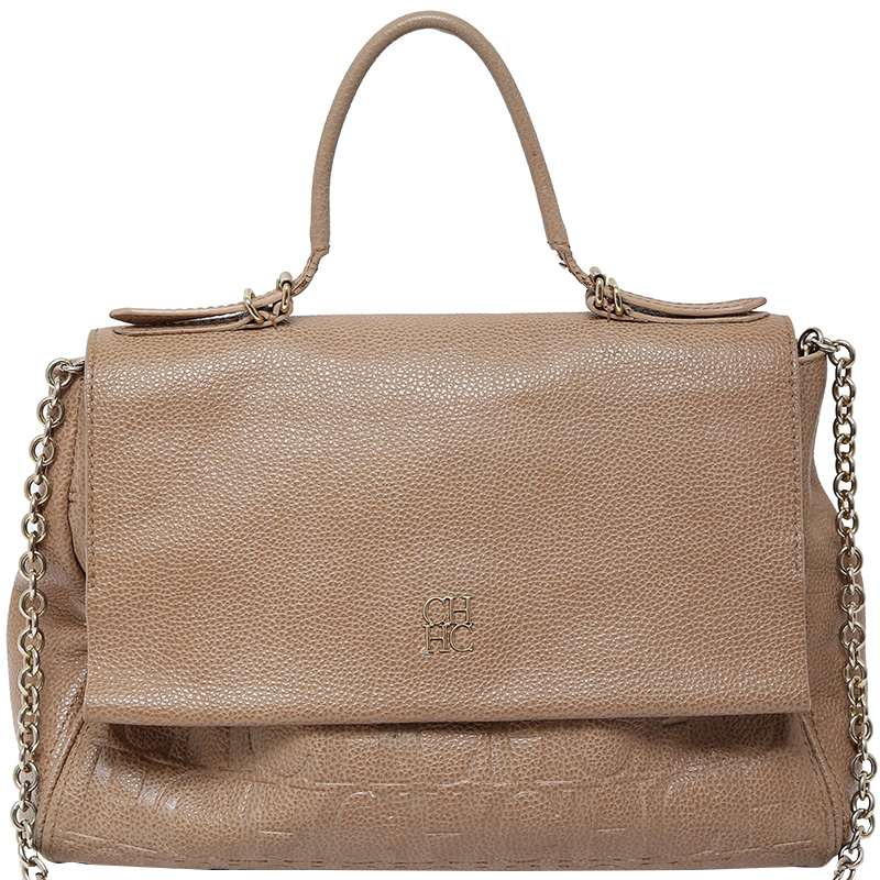 ... Carolina Herrera Beige Leather Minuetto Flap Bag. nextprev. prevnext 59fe46cf38dc9