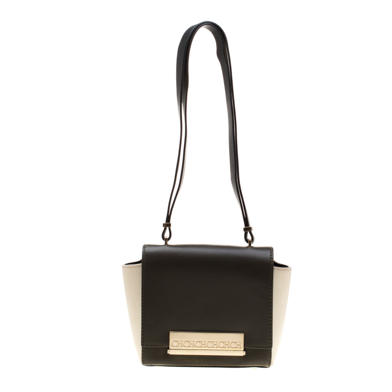 Carolina Herrera Tri Color Leather Shoulder Bag