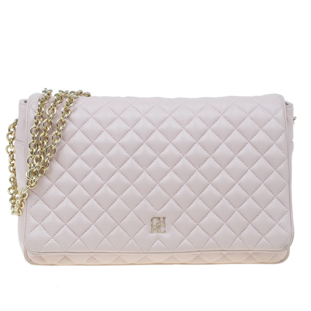 Carolina Herrera Pink Quilted Leather Flap Bag 3487 At Best. Womens  Shoulder Bags Hobos Ferragamo Small Quilted Flap Bag Jasmine Flower d8fed7deada60