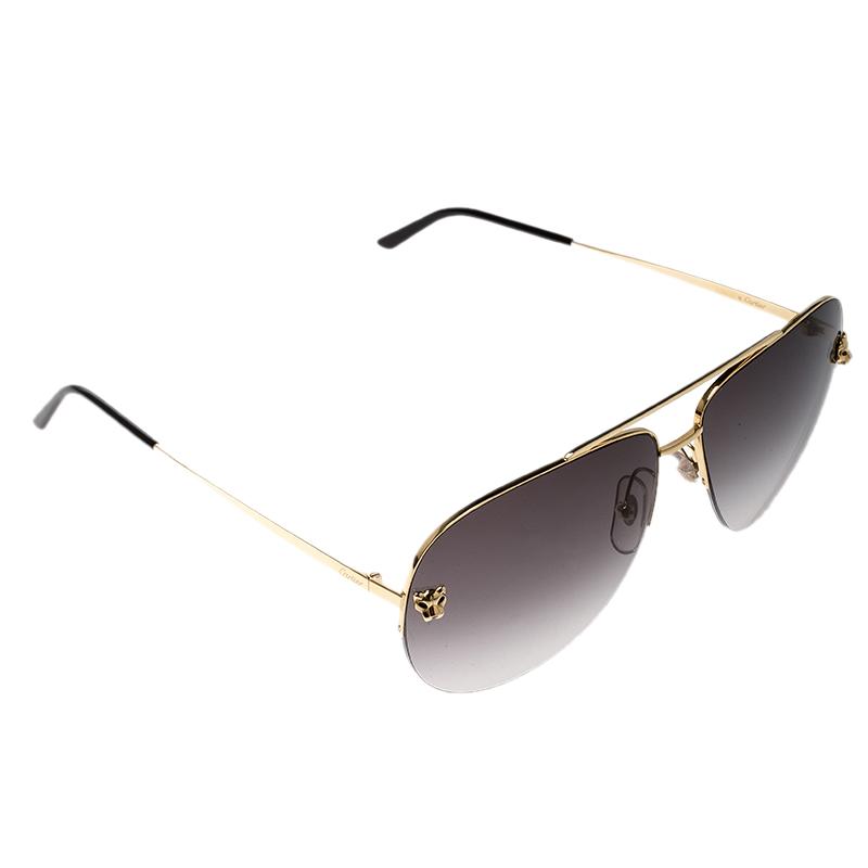a300335878b47 Buy Cartier Gold Black Gradient Panthere De Cartier Aviator ...