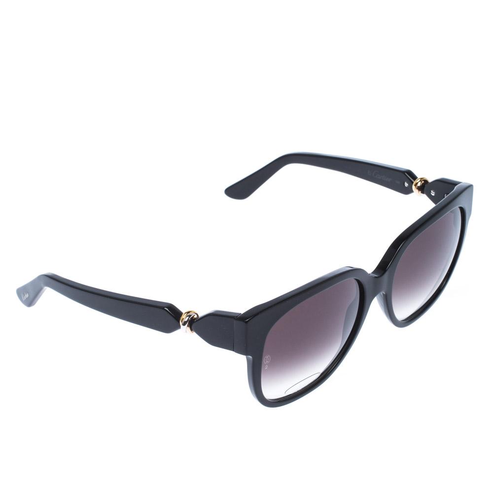 Cartier Black/Black Gradient T8201083 Trinity Wayfarer Sunglasses