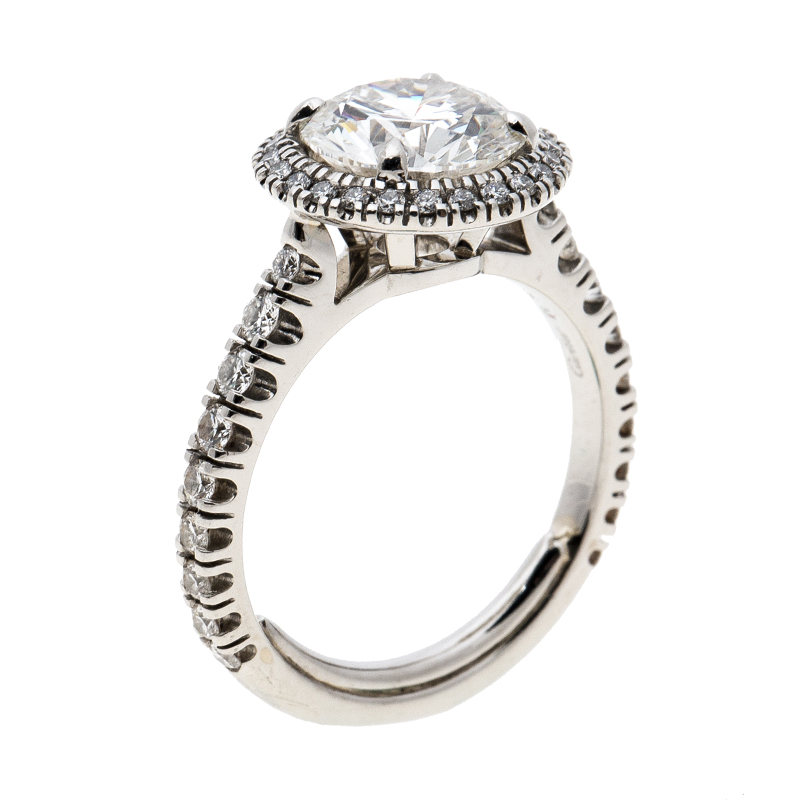a666f4a32c4d Buy Cartier 1895 Destinee 2.08ct Diamond Solitaire Platinum Halo ...