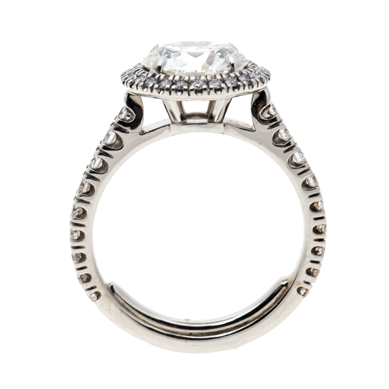 Engagement Rings Kuwait: Cartier 1895 Destinee 2.08ct Diamond Solitaire Platinum