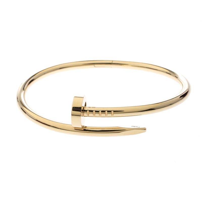 99e4e38a77089 Buy Cartier Juste Un Clou 18K Yellow Gold Bracelet 150331 at best ...