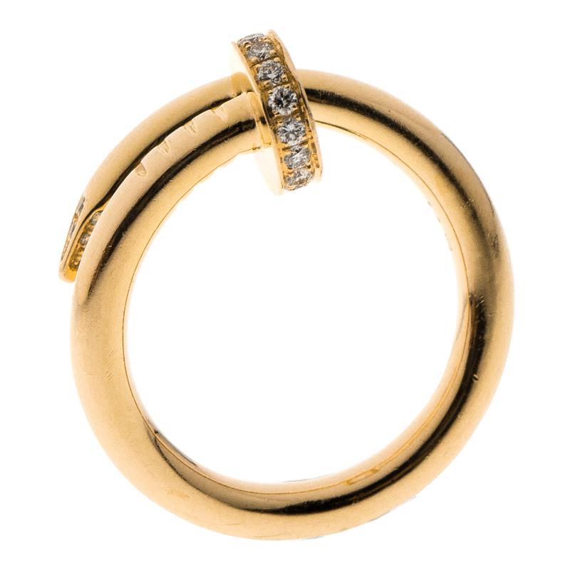 Купить со скидкой Cartier Juste Un Clou Diamond & 18k Rose Gold Ring 51