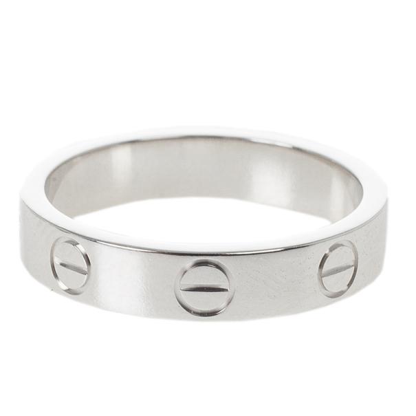 d166835e2e0e8 Cartier Love 18k White Gold Wedding Band Ring Size 49