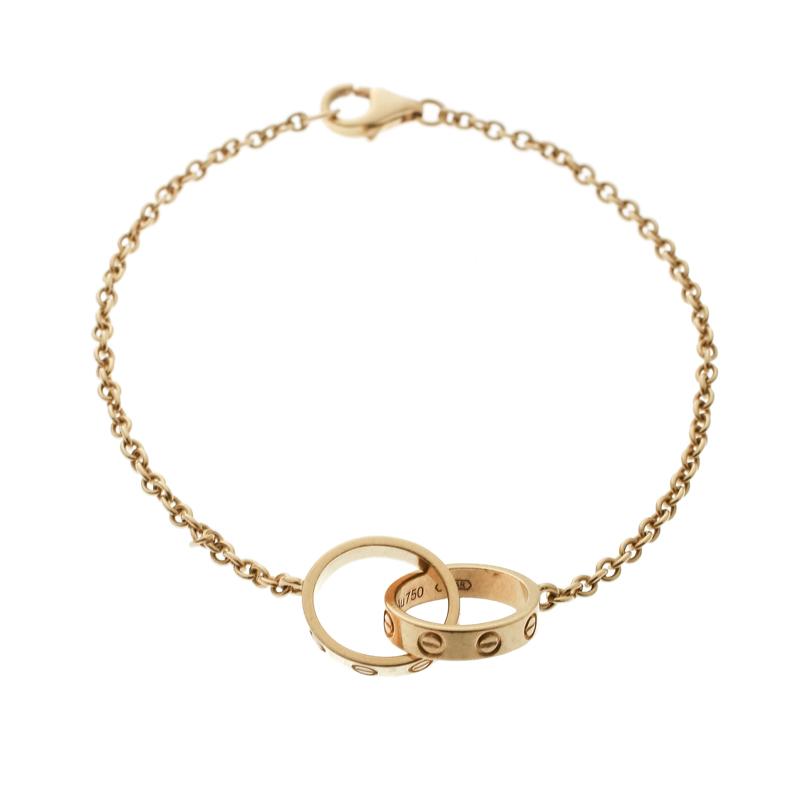 Фото #1: Cartier Love 2 Hoops 18k Yellow Gold Bracelet