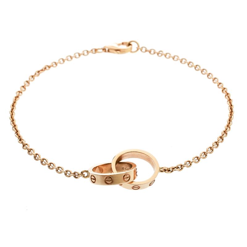 14df8ad4c2794 Cartier Love 2 Hoops 18k Rose Gold Bracelet