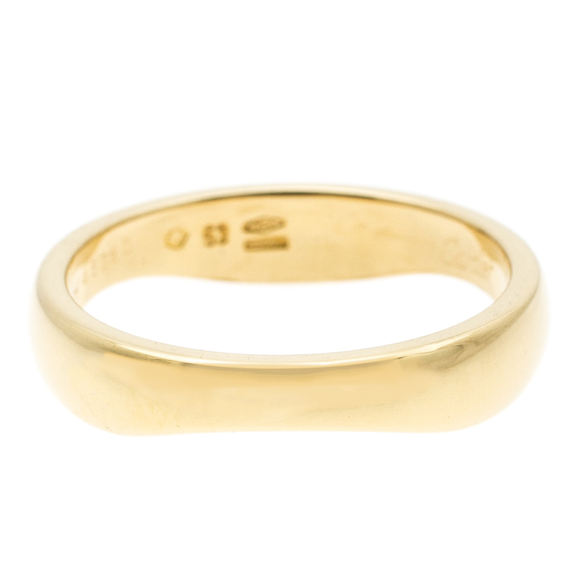 Cartier Love Me 18k Yellow Gold Band Ring Size