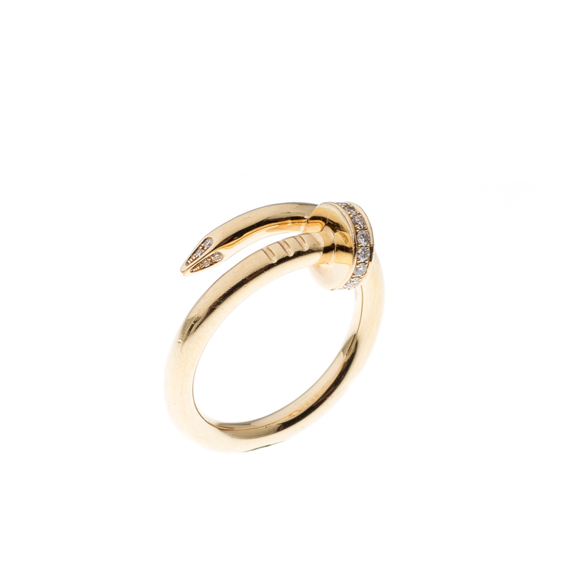 366674d13ba4b Cartier Juste Un Clou Diamond & 18k Yellow Gold Ring 54
