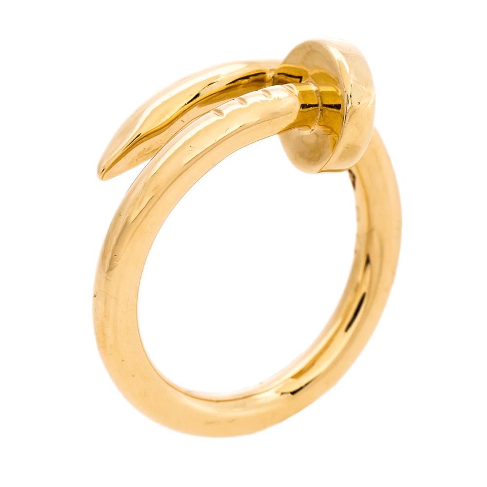 Cartier Juste Un Clou 18K Rose Gold Ring Size 49