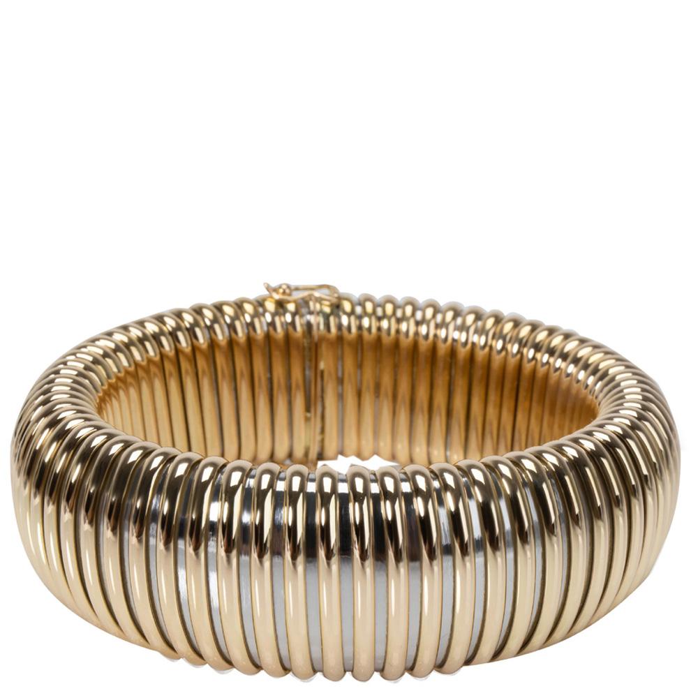 Cartier 18K Two Tone Gold Tubogas Bracelet