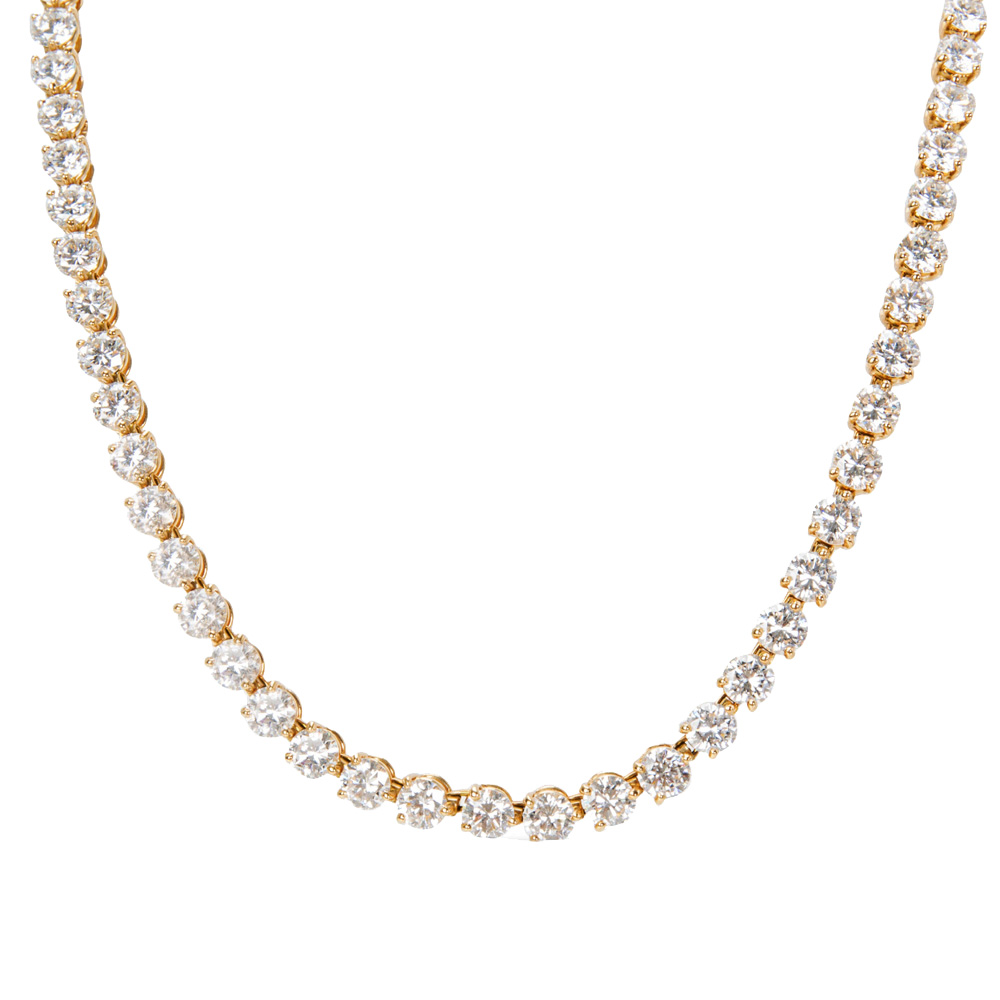 Cartier 18K Yellow Gold Diamond Tennis Necklace