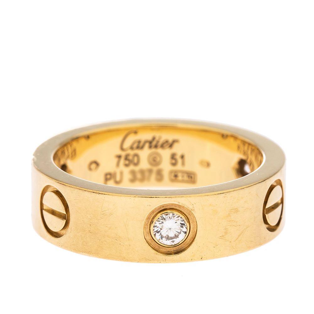 cartier ring 750 51