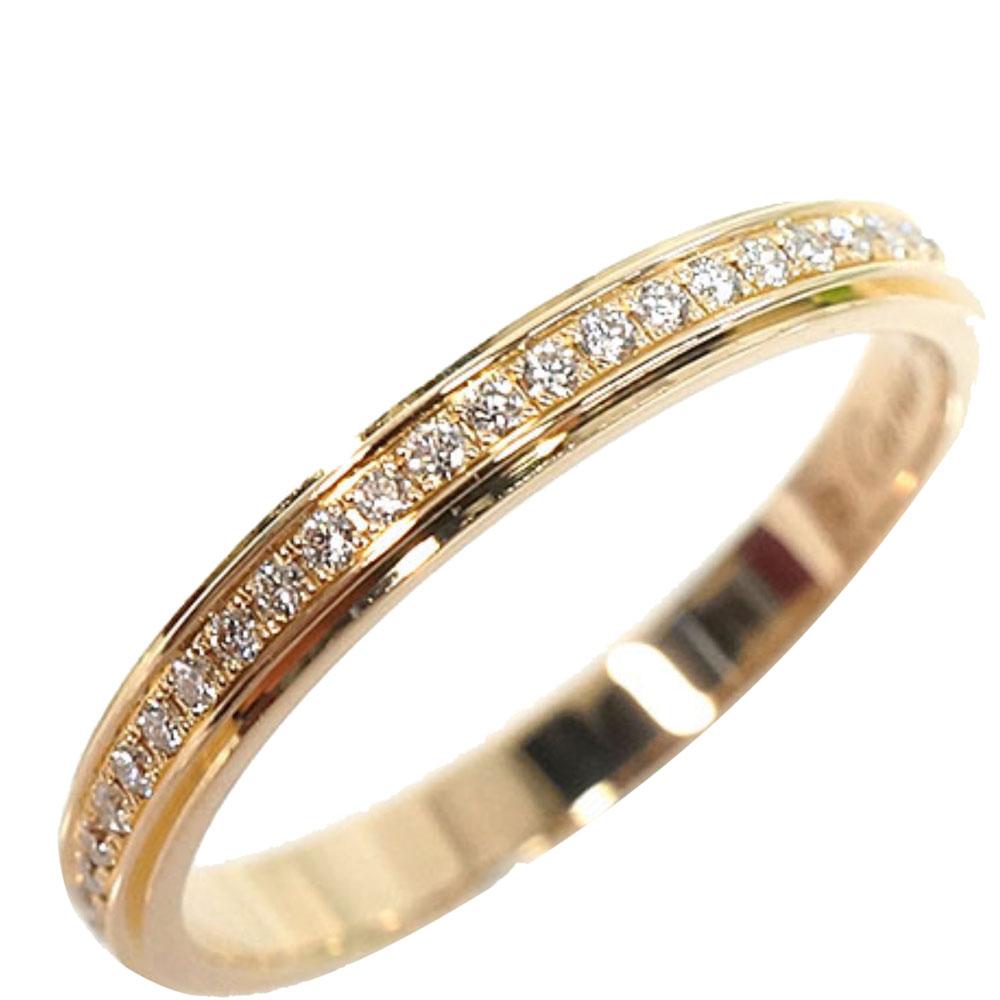 Cartier DAmour Diamond 18K Yellow Gold Ring Size 47