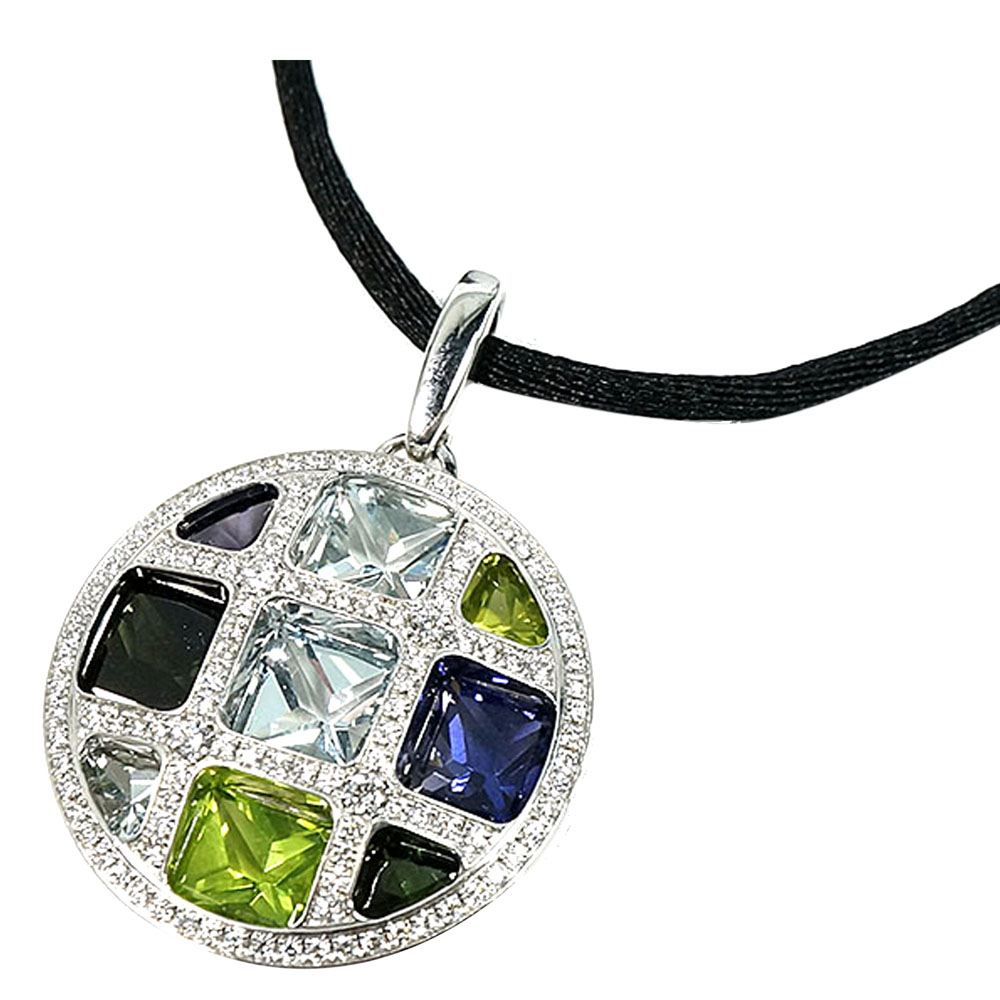 Cartier Pasha de Cartier 18K White Gold Diamond Multistone Pendant Necklace