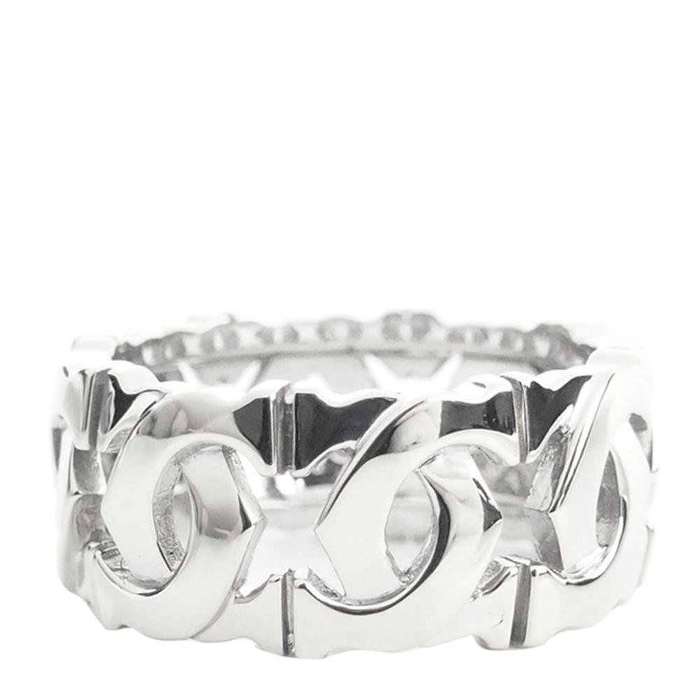 Cartier C de Cartier 18K White Gold Ring Size 49
