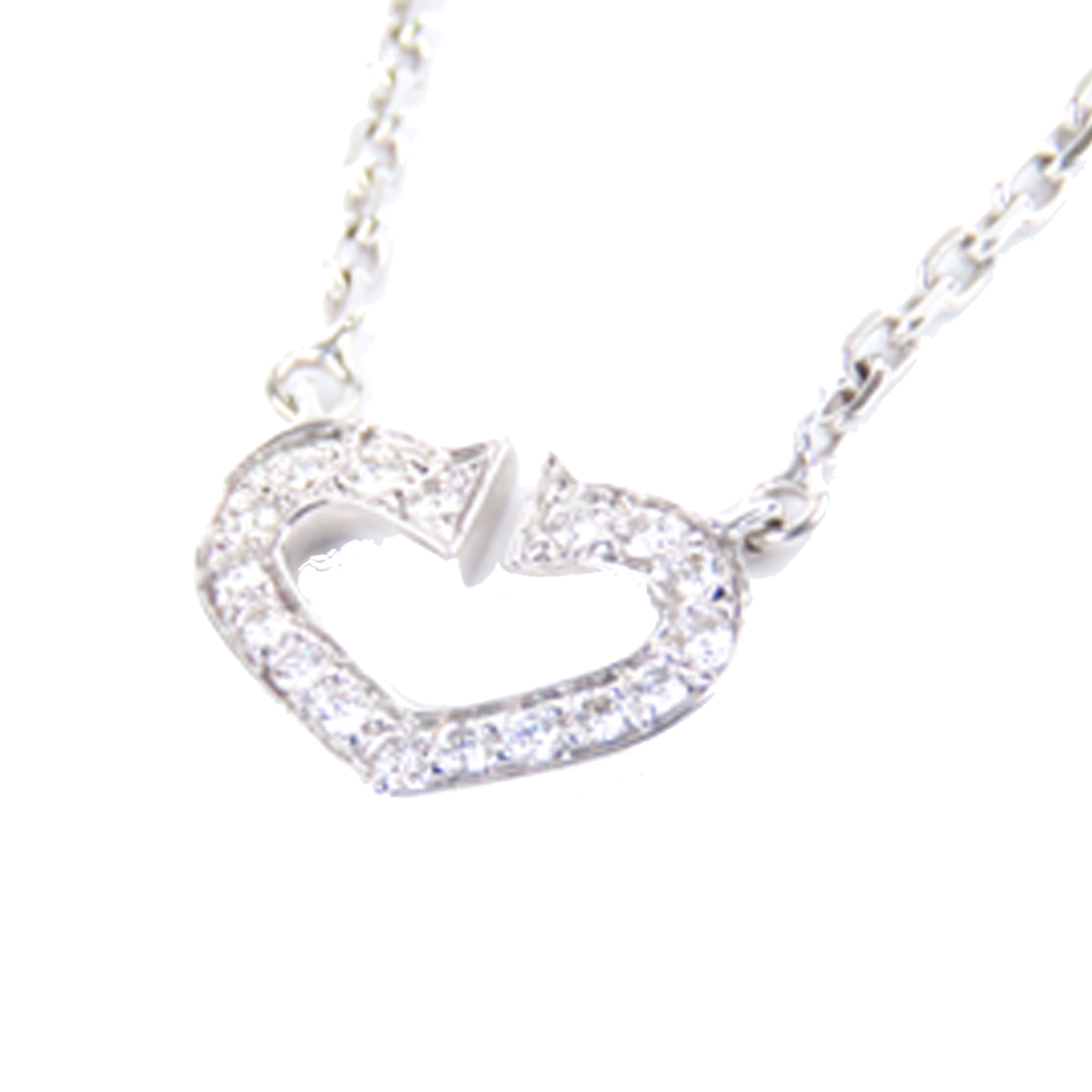 Cartier Heart of Cartier Diamond 18K White Gold Pendant Necklace