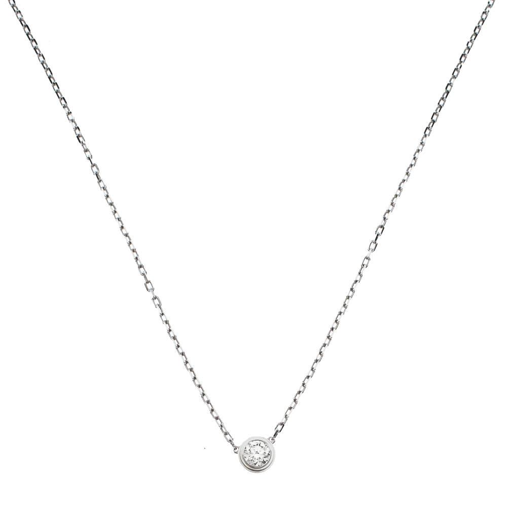 Cartier Diamants Légers Diamond 18K White Gold Necklace