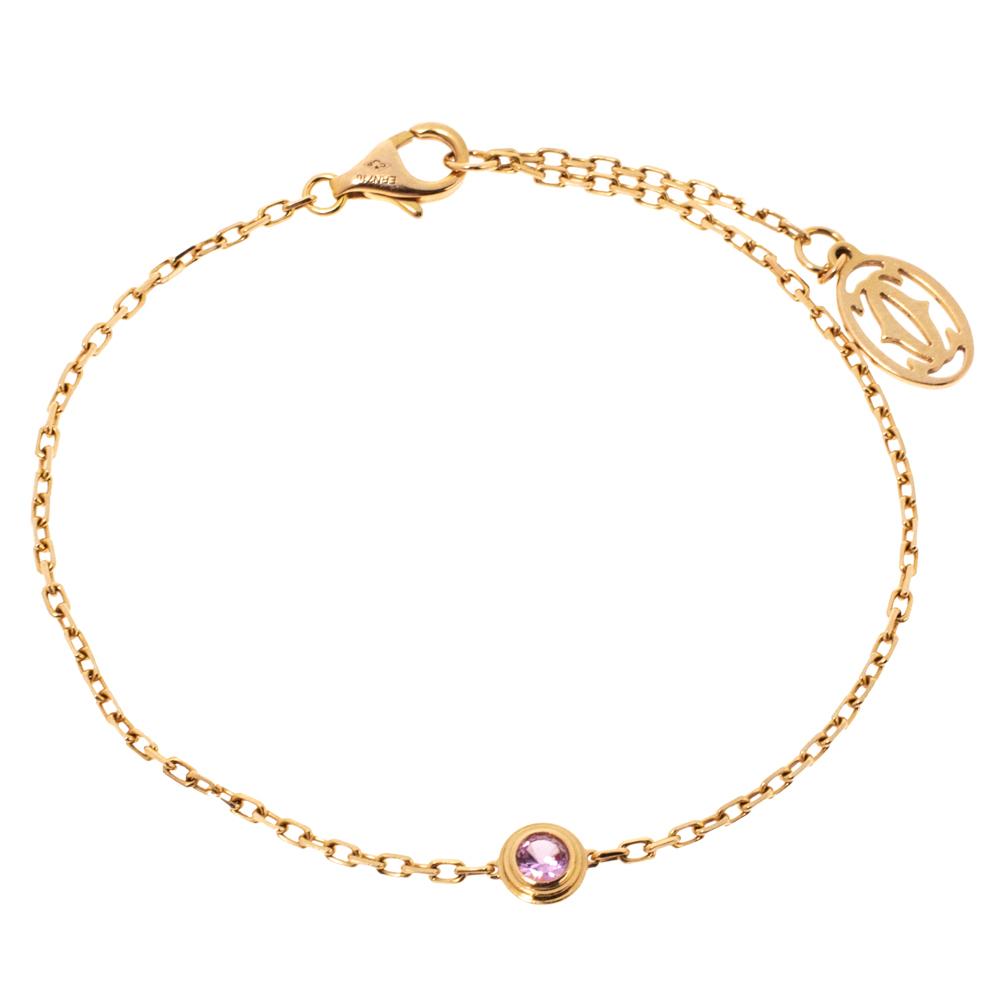 Cartier Saphirs Légers De Cartier Pink Sapphire 18K Rose Gold Bracelet