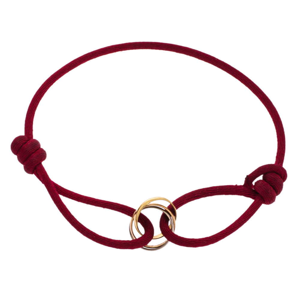 Cartier Trinity de Cartier 18K Three Tone Gold Adjustable Cord Bracelet