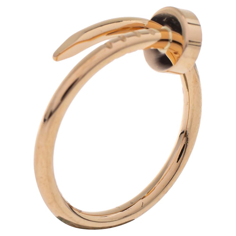 Cartier Juste Un Clou 18K Rose Gold Ring SM Size 49